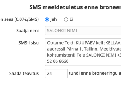 SMS seaded